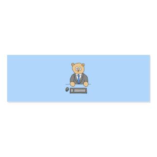 Trabalhos em um escritório. Laço azul Cartão De Visita Skinny