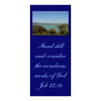 Trabalhos maravilhosos [do deus] - 37:14 do 10.16 x 22.86cm panfleto