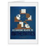 Trabalhos na matemática WPA 1937 Cartão Comemorativo