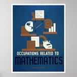 Trabalhos na matemática WPA 1937 Poster