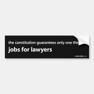Trabalhos para advogados adesivo para carro