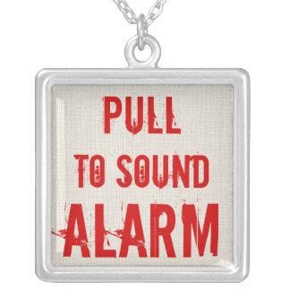 Tração VERMELHA para soar a alarme a colar