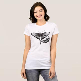 traças preto e branco camiseta
