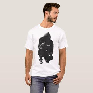 Traço original B/W do Hoodie da roupa de Kunce Camiseta