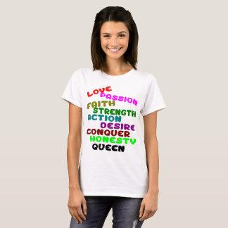 Traços da rainha camiseta