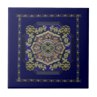 Tradicional asiático do art deco Jeweled