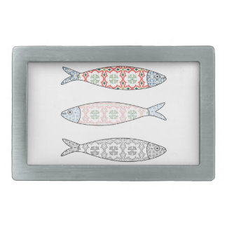 Traditional Portuguese icon. Colored sardines