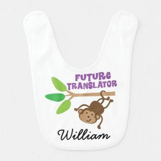 Tradutor futuro babador personalizado do bebê