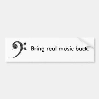 Traga a música para trás adesivos