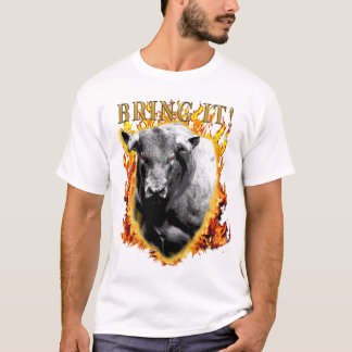 TRAGA-LHE o rodeio Bullriding Bullrider Camiseta