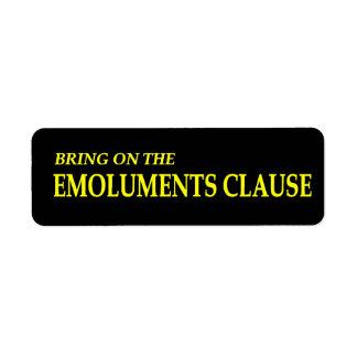 Traga nas etiquetas da cláusula dos lucros