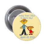 Traga sua criança trabalhar o botão do dia 2010 (o boton