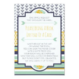 Traga um cartão de livro, tribal, asteca, chá de