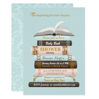 Traga um convite do chá de fraldas do livro