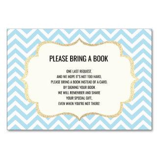 Traga um livro - Chevron cartões do chá de fraldas