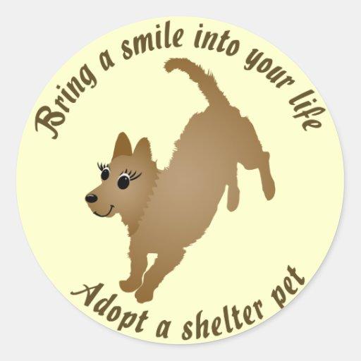Traga um sorriso adesivo em formato redondo