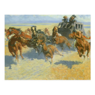 Tragando Nigh o líder, Remington, vaqueiro do vint Cartao Postal