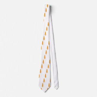 Traje alaranjado da gravata do bastão do Dia das