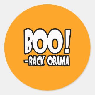TRAJE de BOO-RACK OBAMA - o Dia das Bruxas - png Adesivo Redondo