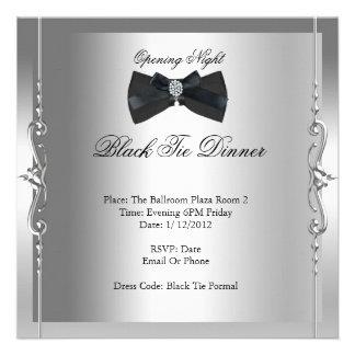 Traje de cerimónia da noite da inauguração formal convites personalizado