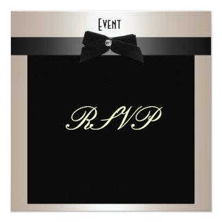 Traje de cerimónia formal Champagne de RSVP Convite Quadrado 13.35 X 13.35cm