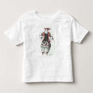 Traje do balé camiseta infantil