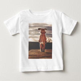 Traje do coelhinho da Páscoa Camiseta Para Bebê