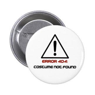 Traje do erro 404 não encontrado bóton redondo 5.08cm