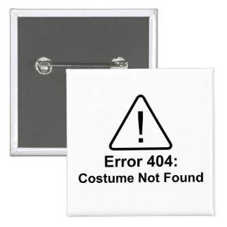 Traje do erro 404 o Dia das Bruxas não encontrado