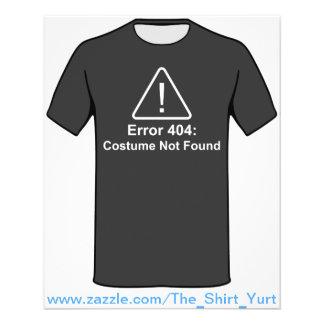 Traje do erro 404 o Dia das Bruxas não encontrado Modelos De Panfleto