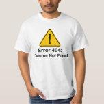 Traje do erro 404 o Dia das Bruxas não encontrado Tshirt