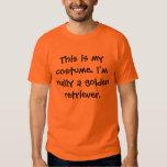 Traje do golden retriever camisetas