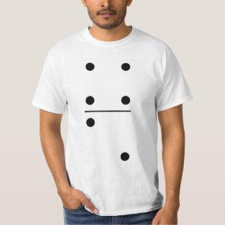 Traje do grupo dos dominós 4-2 camiseta