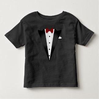 Traje falsificado do smoking camiseta infantil