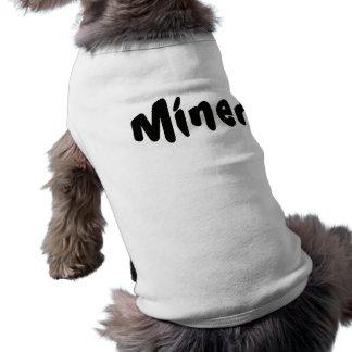 Traje imediato do cão do mineiro roupas para caes