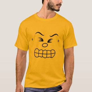Traje irritado do grupo do Emoticon Camiseta