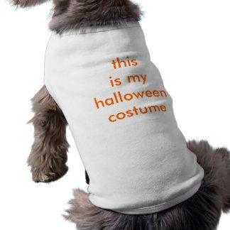Traje muito criativo do Dia das Bruxas Camisa Sem Mangas Para Cachorro