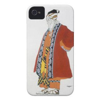 Traje o design para um ancião em um casaco capinha iPhone 4