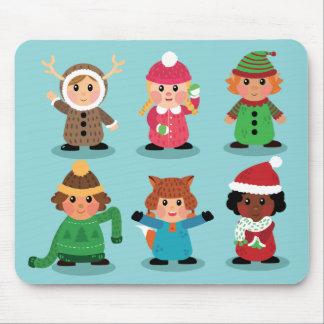 Trajes dos miúdos no inverno Mousepad