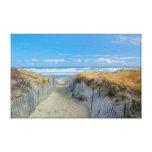 Trajeto à praia impressão de canvas esticadas