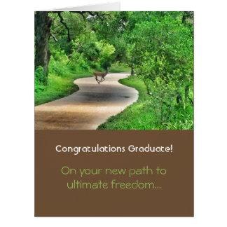 Trajeto ao cartão final da graduação da liberdade