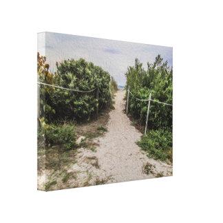 Trajeto ao impressão das canvas da praia