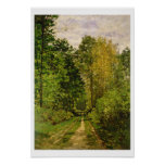 Trajeto arborizado, 1865 (óleo em canvas) poster