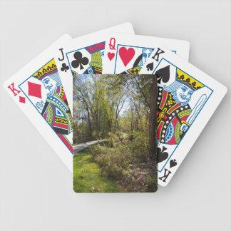 Trajeto da bicicleta no cartão de jogo da marca da baralho para truco