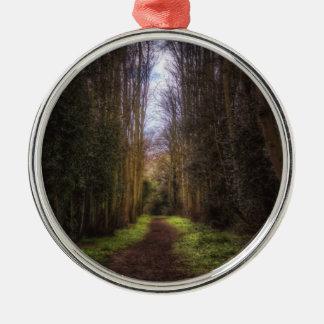 Trajeto da limeira ornamento redondo cor prata