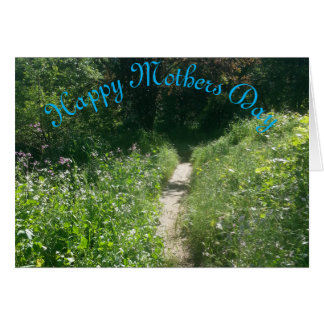 Trajeto do dia das mães com flores cartão comemorativo