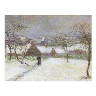 Trajeto na neve por Gustave Loiseau Cartao Postal