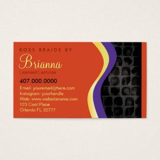 Tranças do entrançador do afro-americano cartão de visitas
