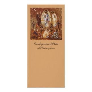 Transfiguração do cristo planfeto informativo colorido