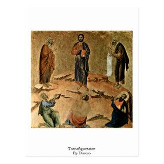 Transfiguração por Duccio Cartão Postal
